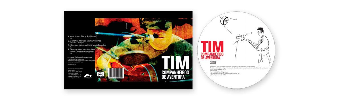Tim e Companheiros de Aventura CD de lançamento