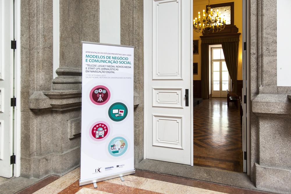 Apresentação do estudo - ERC, Salão Nobre da Reitoria da U.P., Porto; Foto: Filipe Paiva