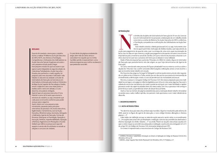 Solicitadoria e Acção Executiva / Estudos