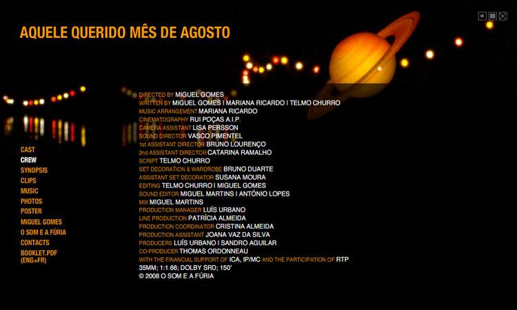 Aquele querido mês de Agosto - CD-rom de promoção